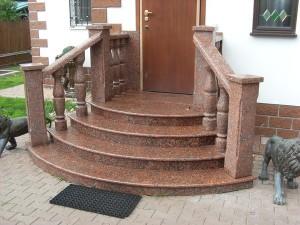 Гранитная лестница Капустинский гранит ступени Самые прочные гранитные лестницы. Ступени и подступенки.